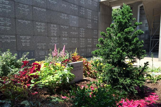 The Audubon Garden section of the community mausoleum