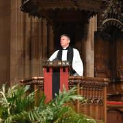 The Rev. Michael A. Bird preaches on Palm Sunday
