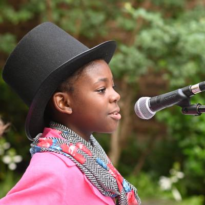 Music student performs at Hour Children Concert