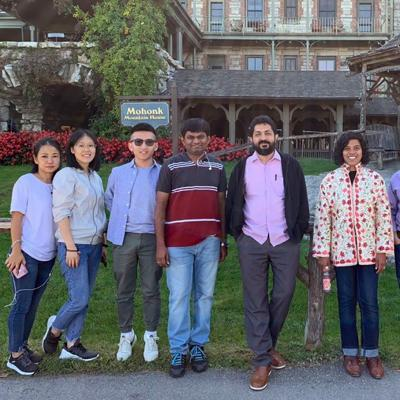2019-2020 Trinity Union Fellows standing in a line with the Rev. Winnie Varghese