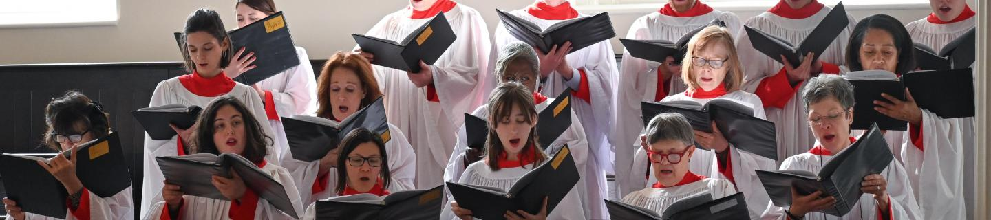 The St. Paul's Chapel Choir sings at a Sunday Holy Eucharist